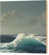Sennen Surf Seascape Wood Print