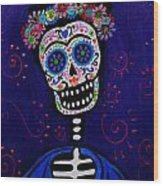 Senorita Frida Wood Print