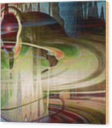Sensing The Spheres Wood Print by Linda Sannuti