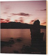 Sentinel Of Mono Lake Wood Print