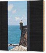 Sentry Tower View Castillo San Felipe Del Morro San Juan Puerto Rico Wood Print