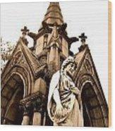 Sepia - Forrest Lawn Cemetery - Buffalo New York Wood Print