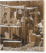 Sepia Historical Reenactment Wood Print