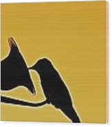 Sepia Silhouette Wood Print