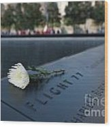 September 11 Memorial Flower Wood Print