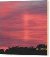 September 16 Sunrise Four Wood Print