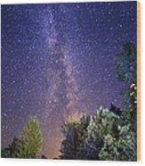 September Night Sky Wood Print