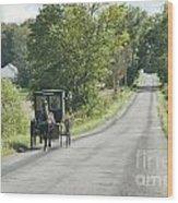 September Roads Wood Print