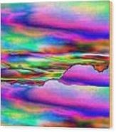 September Sunrise Abstract Wood Print