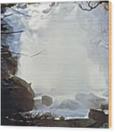 Sequoia Nat Pk Waterfalls Wood Print