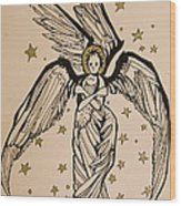 Seraphim Wood Print by Jackie Rock