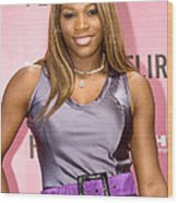 Serena Williams At The Press Conference Wood Print by Everett
