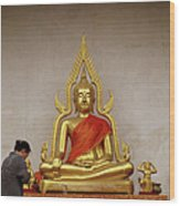 Serene Buddha Wood Print