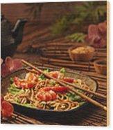 Serene Cuisine Wood Print