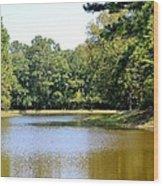 Serene Lake In September Wood Print