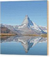 Serene Matterhorn Wood Print