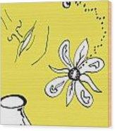 Serenity In Yellow Wood Print