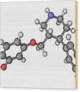Seroxat Antidepressant Drug Molecule Wood Print