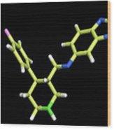 Seroxat (paroxetine) Molecule Wood Print by Dr Tim Evans
