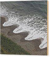 Serrated Waves Wood Print