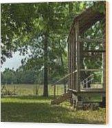 Settlers Cabin Arkansas 1 Wood Print by Douglas Barnett