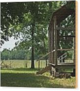 Settlers Cabin Arkansas 2 Wood Print