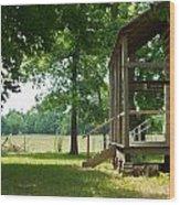 Settlers Cabin Arkansas 4 Wood Print