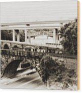 Seven Bridges View Wood Print