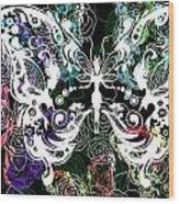 Seven Butterflies Wood Print