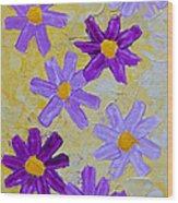 Seven Flowers Wood Print