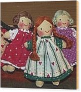 Seven Handmade Dolls Wood Print