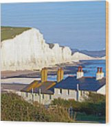Seven Sisters Cottage View Wood Print