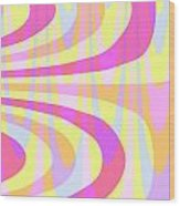 Seventies Swirls Wood Print