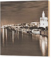 Sevilha By The River Wood Print