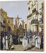 Seville: Good Friday, 1862 Wood Print