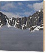 Seward Mountain Range Wood Print