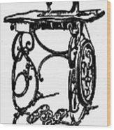 Sewing Machine Wood Print