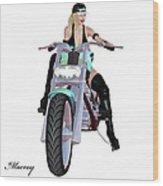 Sexy  Biker Wood Print