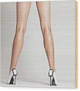Sexy Long Legs Wood Print