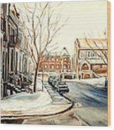 Shaar Hashomayim Westmount Montreal  Wood Print