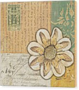 Shabby Chic Floral 2 Wood Print by Debbie DeWitt
