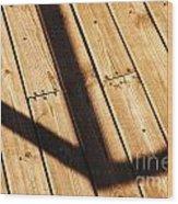 Shaded Walkway Floor Wood Print