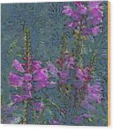 Shades Of Purple Wood Print