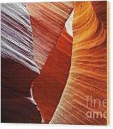 Shades Of Red - Antelope Canyon Az Wood Print