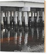 Shadow Bridge  Wood Print