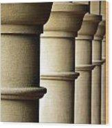 Shadow Columns  Wood Print