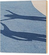 Shadow Friends Wood Print
