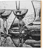 Shadow Of Luxury Glass No.1 Wood Print