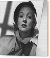 Shadow On The Wall, Ann Sothern, 1950 Wood Print by Everett