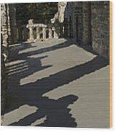 Shadows Cast On The Porch Of Gillette Wood Print